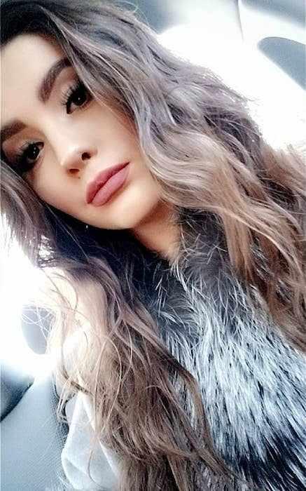 Ana Golja in an Instagram selfie in January 2018