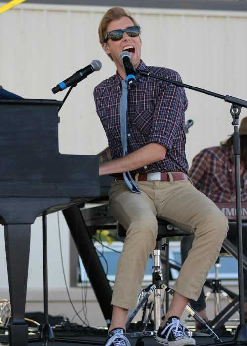Andrew McMahon Performing with his Band Andrew McMahon in the Wilderness in June 2015