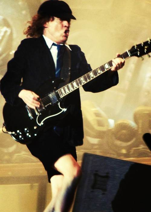 Angus Young as seen in May 2009