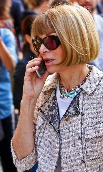 Anna Wintour at Giorgio Armani Fashion show in September 2013