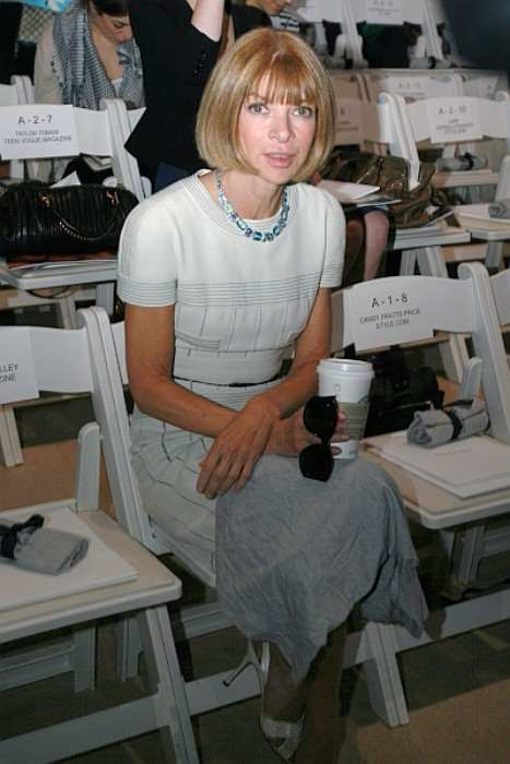 Anna Wintour at the Anne Klein fashion show