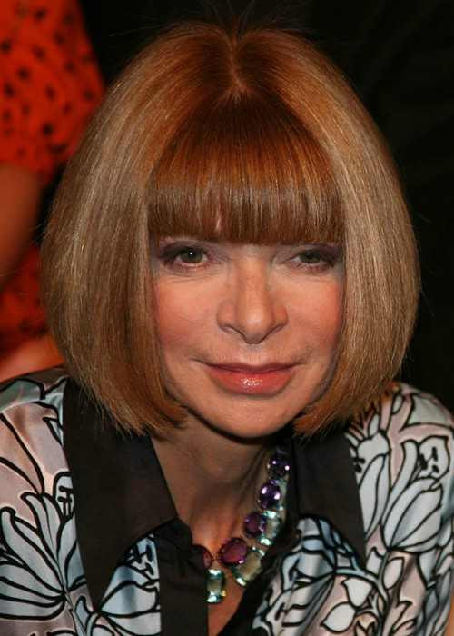 Anna Wintour at the Twenty8Twelve fashion show in London in September 2009
