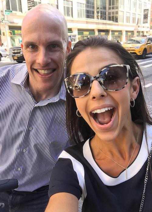 Ariana Berlin and sports journalist Grant Wahl in a selfie in September 2016