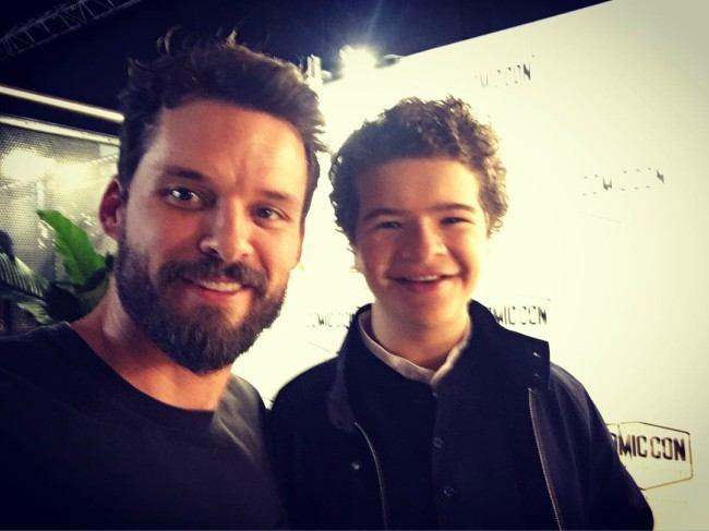 Austin Nichols (Left) and Gaten Matarazzo in a selfie in October 2017