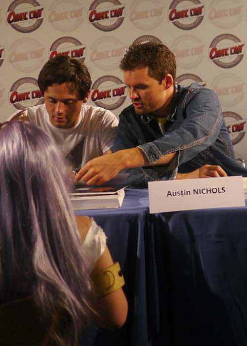 Austin Nichols (Right) at Japan Expo Festival in July 2012