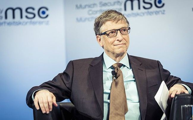 Bill Gates as seen in February 2017