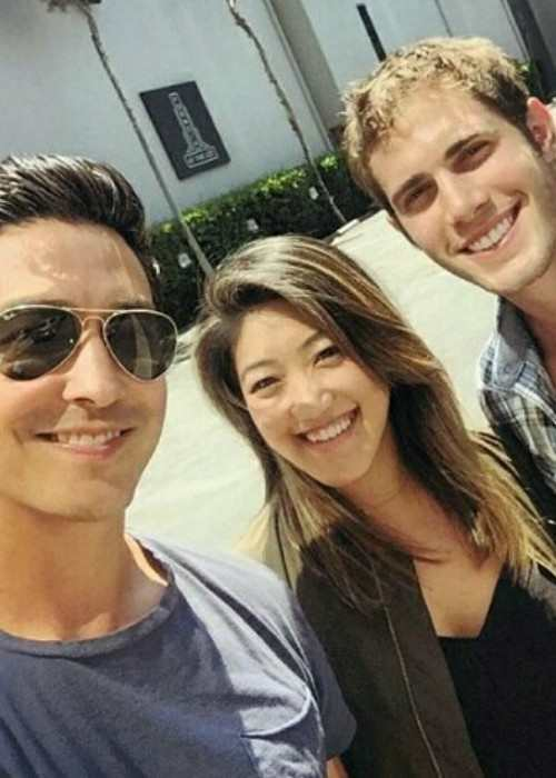 Blake Jenner (Right) with Daniel Henney in an Instagram selfie in 2017