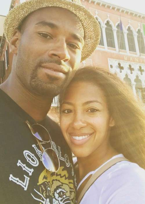 Calvin Johnson Jr. and Brittney McNorton in a selfie in July 2017