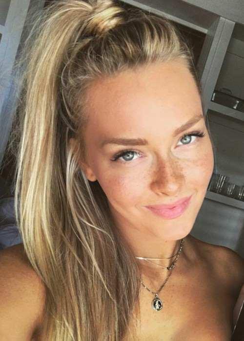 Camille Kostek in an Instagram selfie in November 2017