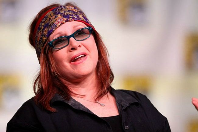 Carrie Fisher at the 2012 San Diego Comic-Con International