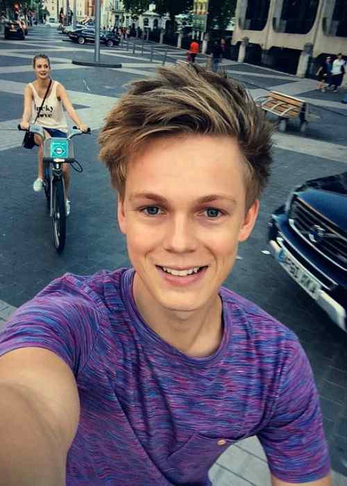 Caspar Lee in an Instagram selfie in August 2014