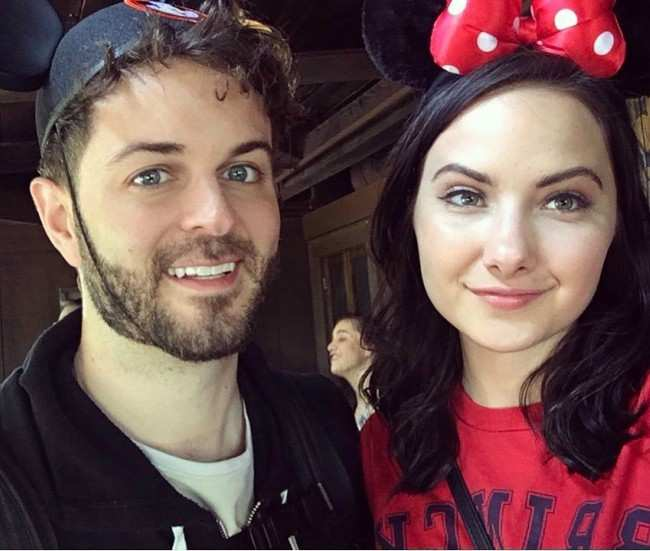 Curtis Lepore and Rachel Raquel in a selfie in April 2017