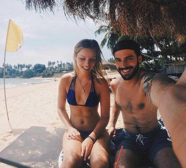 Dan Viveiros and Tessa Maye during a trip to Sri Lanka in February 2017