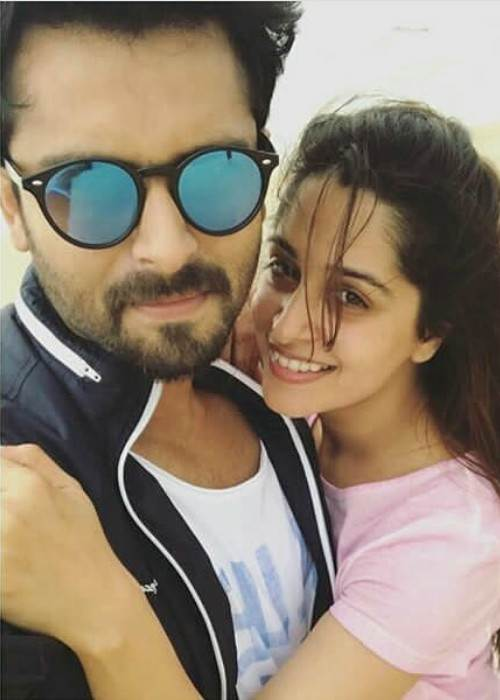 Dipika Kakar and Shoaib Ibrahim in an Instagram selfie in January 2018