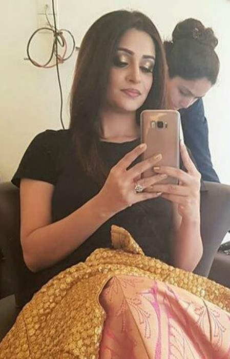 Dipika Kakar in an Instagram selfie in January 2018