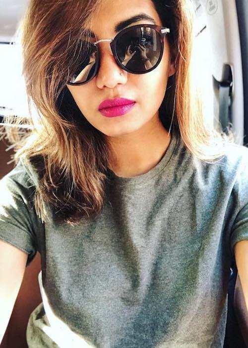 Disha Madan in an Instagram selfie in December 2017
