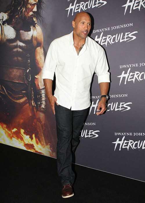 Dwayne Johnson at the Hercules Premiere in Australia in June 2014