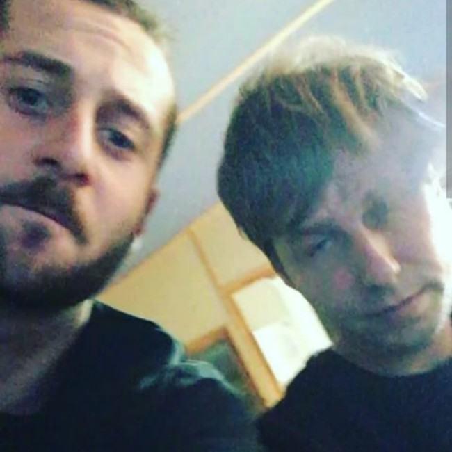 Elderbrook (Left) and Jake Gosling in an Instagram selfie in December 2016