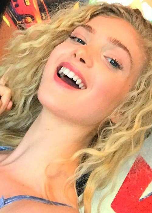 Elena Kampouris in an Instagram selfie in July 2017