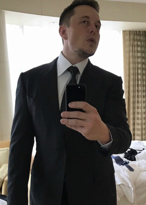Elon Musk in an Instagram selfie as seen in April 2017