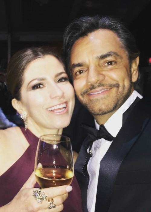 Eugenio Derbez and Alessandra Rosaldo in a selfie in February 2017