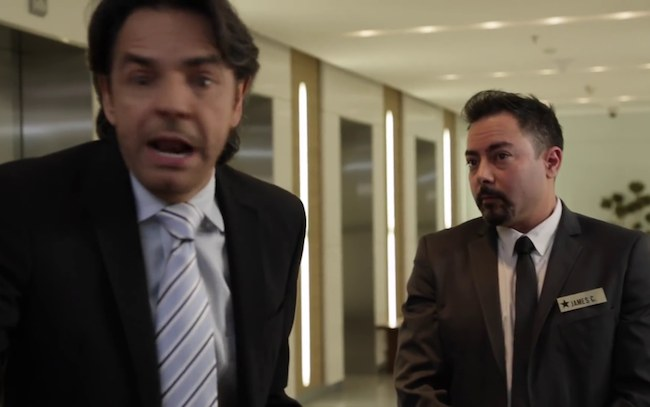 Eugenio Derbez and Jaime Aymerich as seen in March 2016
