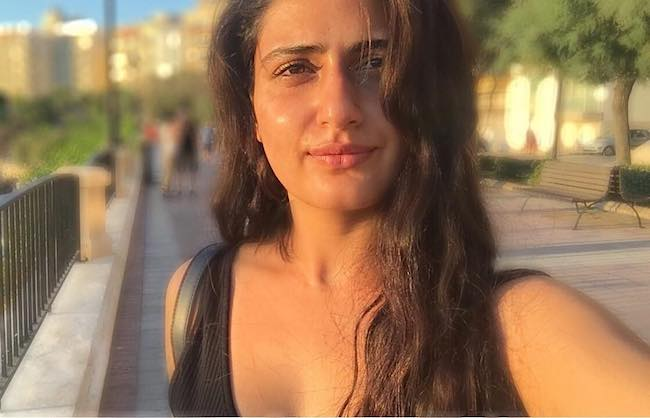 Fatima Sana Shaikh in an Instagram selfie in July 2017