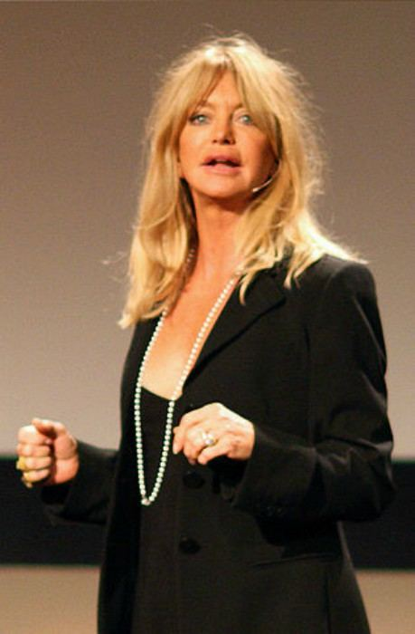 Goldie Hawn at TED in February 2008
