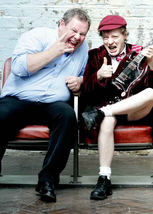 Guido Karp and Angus Young (Right) in 2008