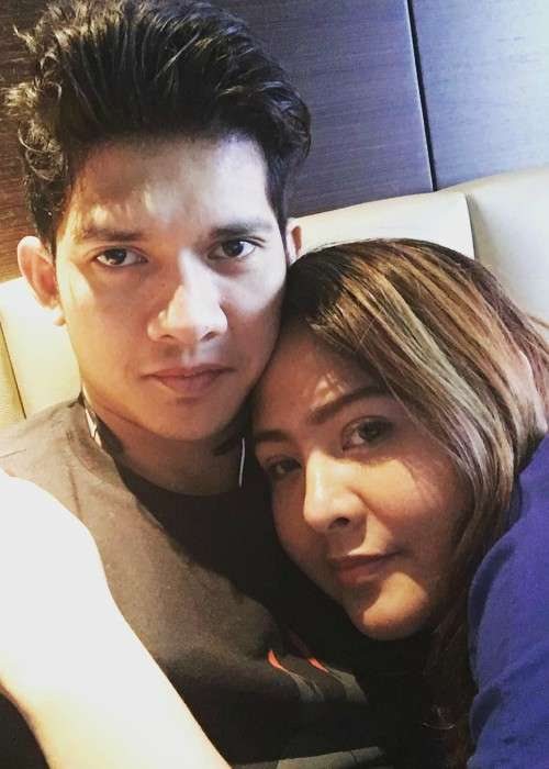 Iko Uwais and Audy Item in an Instagram selfie as seen in April 2017