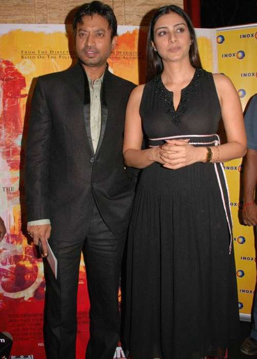 Irrfan Khan and Tabu at the premiere of The Namesake