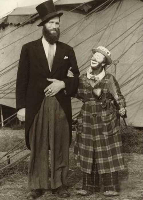 Jóhann K Pétursson Seen With a Clown