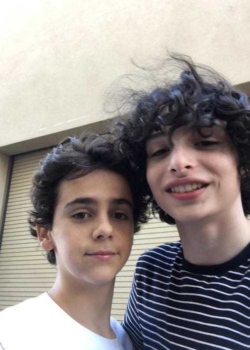 Jack Dylan Grazer and Finn Wolfhard in a selfie in October 2017