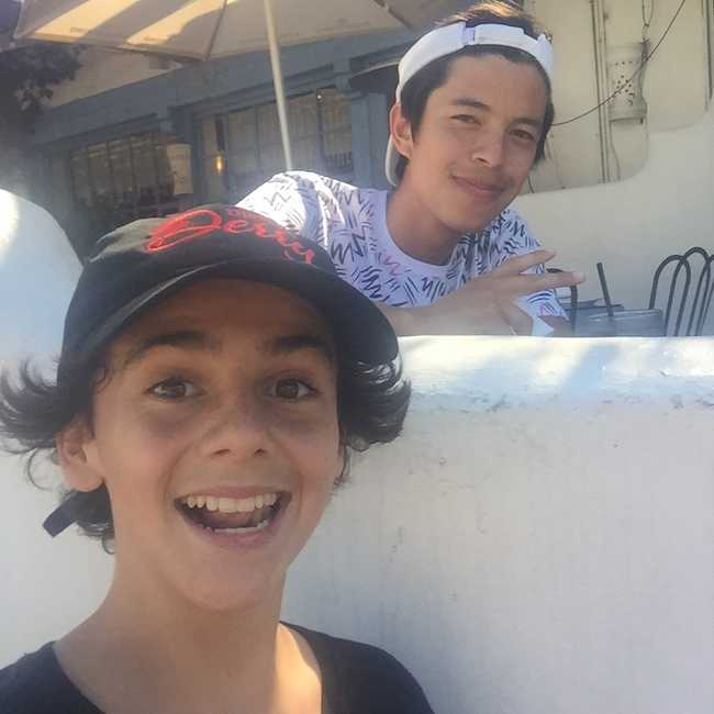 Jack Dylan Grazer in an Instagram selfie in July 2017