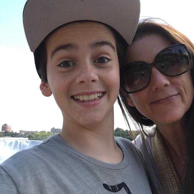 Jack Dylan Grazer with his mom in an Instagram selfie in May 2017