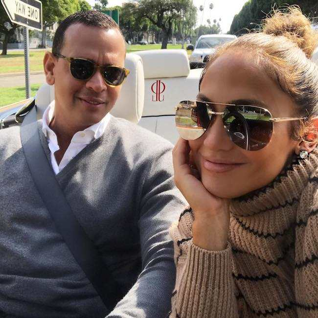 Jennifer Lopez and Alex Rodriguez as seen in September 2017