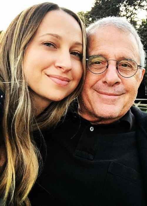 Jennifer Meyer in an Instagram selfie with her dad in September 2017