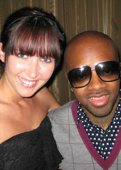 Jermaine Dupri and Sarah Evans as seen in October 2009