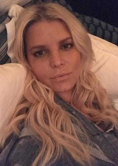 Jessica Simpson in a selfie in November 2017
