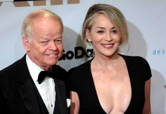 Jimmy Walker and Sharon Stone at Celebrity Fight Night XXIII