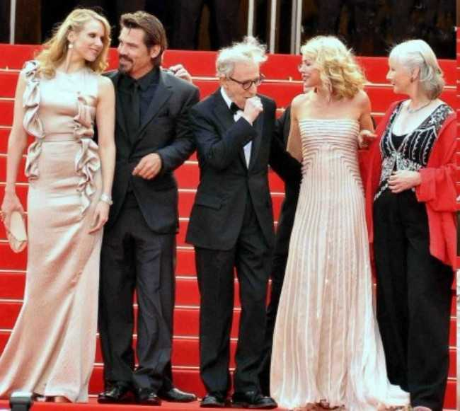 Josh Brolin at the Cannes Film Festival with the Cast and Director of the Movie You're Going to Meet a Tall Dark Stranger