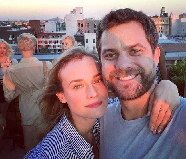 Joshua Jackson and Diane Kruger in an Instagram selfie in August 2015