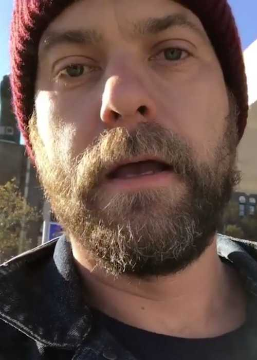 Joshua Jackson in a still from Instagram video in October 2017