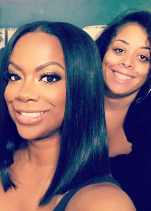 Kandi Burruss (Left) and Jodie Rowlands in a selfie in August 2017