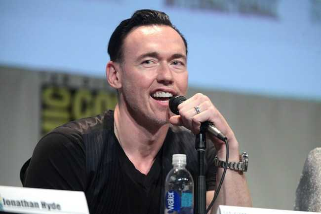 Kevin Durand Speaking at the San Diego Comic Con International for the Movie The Strain in July 2015