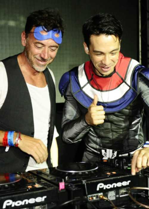 Laidback Luke (Right) and Benny Benassi as seen in July 2012