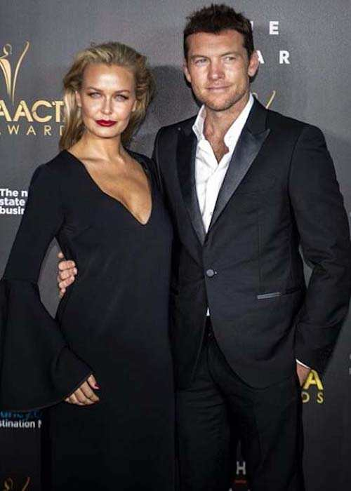 Lara Bingle and Sam Worthington during 2014 AACTAS Awards