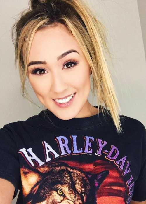 Lauren Riihimaki in an Instagram selfie in July 2017