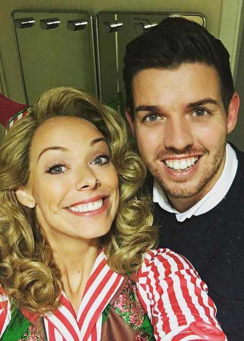 Liz McClarnon and her younger brother Joseph Clarnon November 2017 selfie
