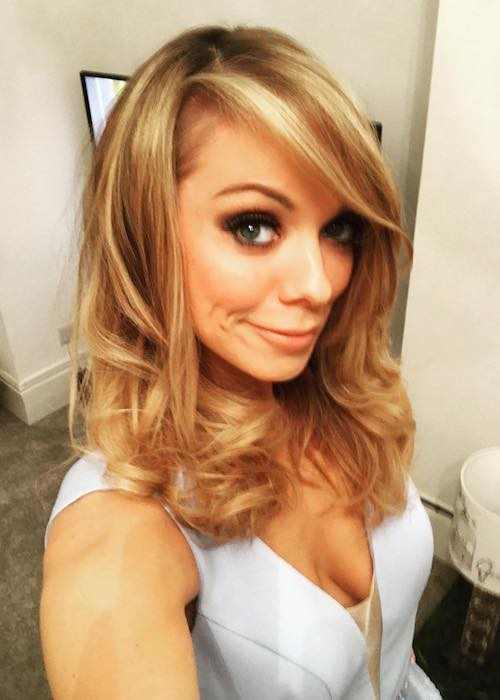Liz McClarnon showing her blonde highlights in February 2017